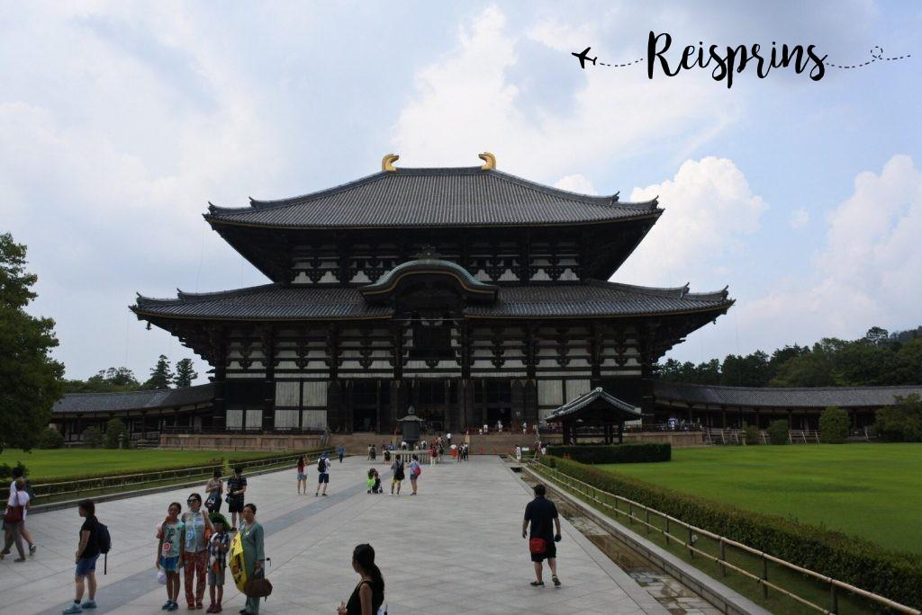 De imposante Todai-ji tempel van Nara