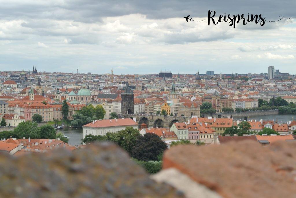 Uitzicht vanaf de Praagse burcht