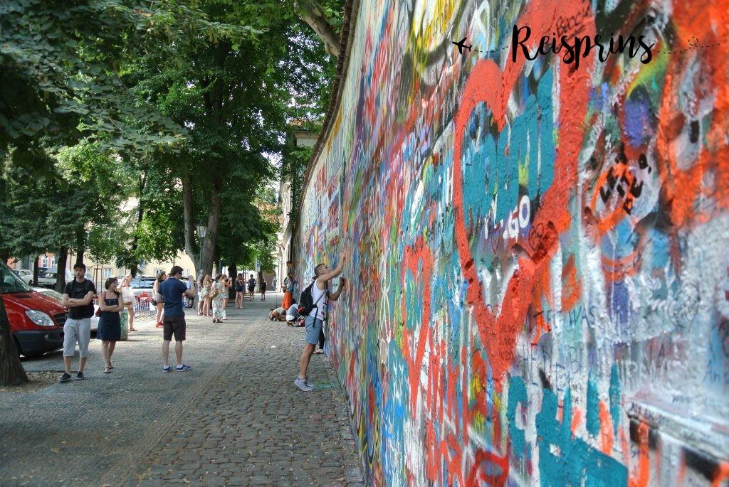 De zogenaamde Lennon Wall