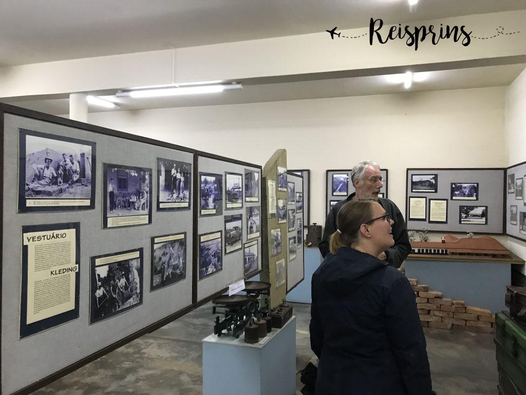 Ondanks dat het museum gesloten was kregen we nog een korte rondleiding.
