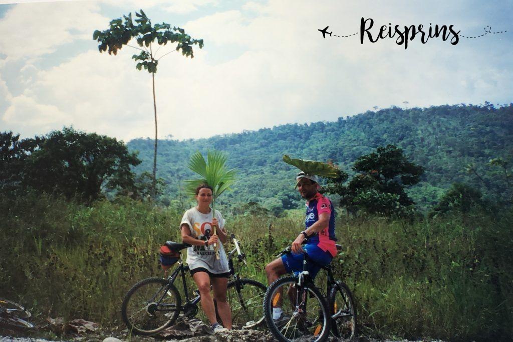 René en Carole tijdens hun eerst reis door Ecuador in 1997.