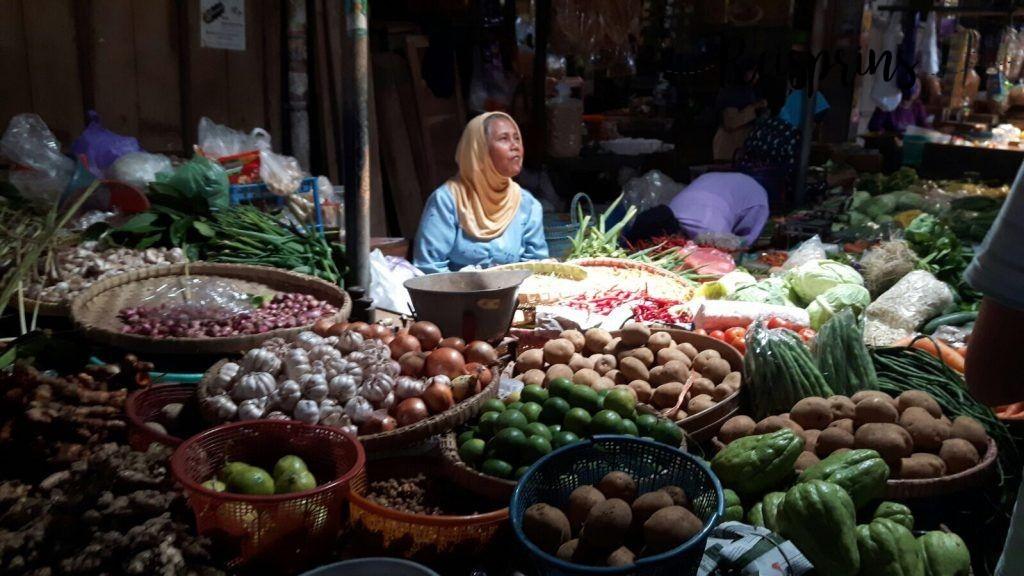 De markt in Ubud, Bali.