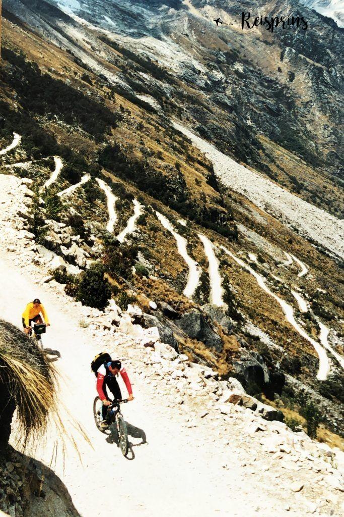 René en Carole tijdens hun beklimming van de Punta Olimpica in Peru.