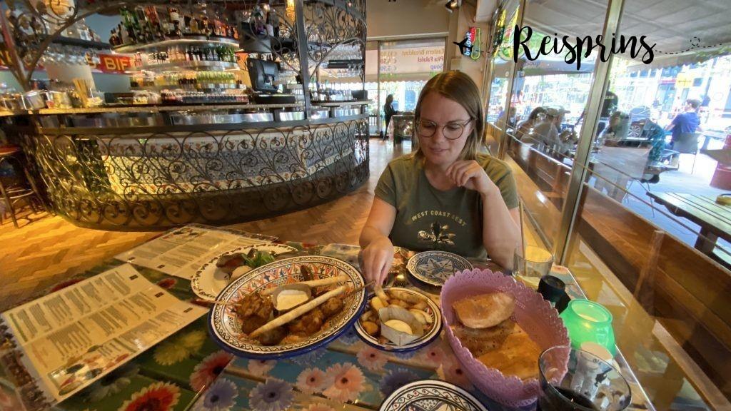 Met zo'n lunch was een uitgebreid diner deze avond niet meer nodig!