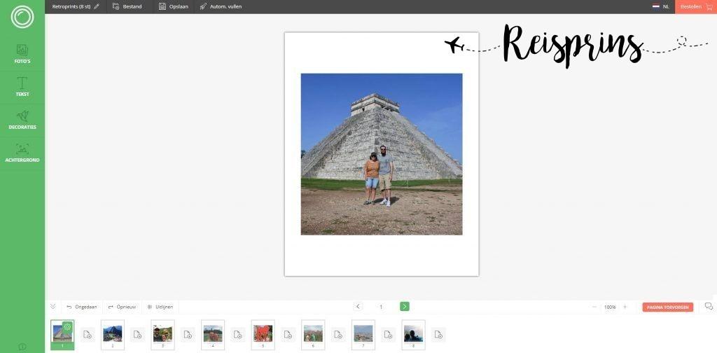 In een paar tellen waren de foto's geüpload.