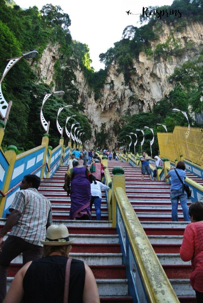 De 272 treden van de trap zijn een behoorlijke uitdaging om te beklimmen.