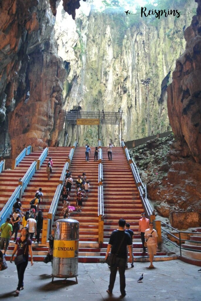 Eenmaal in de groot vind je nog een trap voor een hoger gelegen tempel.