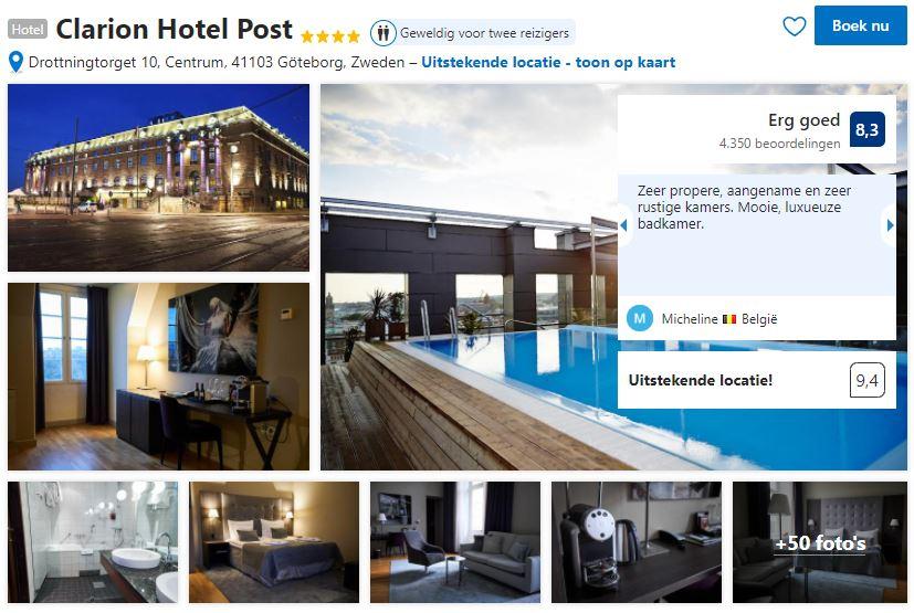 Het Clarion Hotel Post zoals je het kan vinden op Booking.com