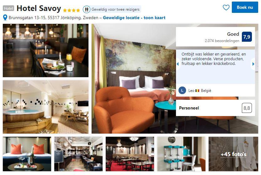 Het Hotel Savoy in Jönköping zoals je het kan vinden op Booking.com