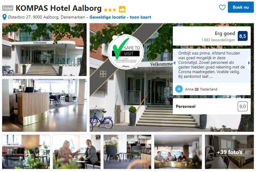 Het KOMPAS Hotel Aalborg zoals je het kan vinden op Booking.com