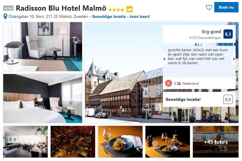 Het Radisson Blue Hotel Malmö zoals je het kan vinden op Booking.com